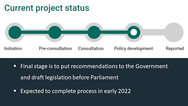 Current status of the Law Commission's surrogacy project