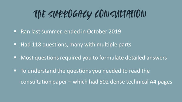 The surrogacy consultation