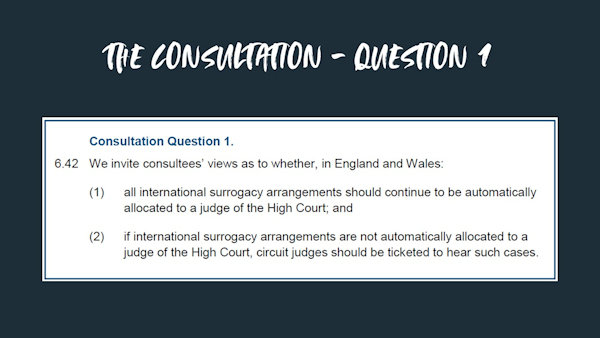 The first question in the surrogacy consultation