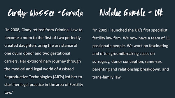 Information about Cindy Wasser and Natalie Gamble
