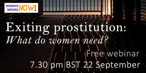 Register for our next webinar: Exiting prostitution - what do women need?
